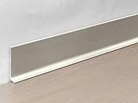 Металлический плинтус Profilpas Metal Line 90/8 анодироованный алюминий, титан сатин 10*80*2000 мм., фото 1