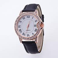 Часы женские Geneva Питон Стразы 100-2 черные
