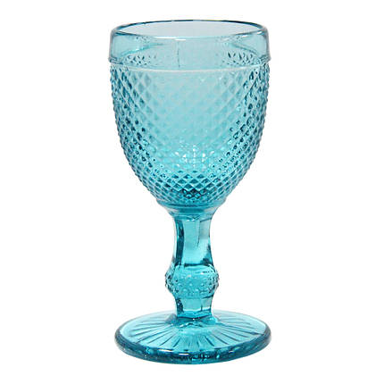 Винтажный бокал кубок Амбер синяя бирюза, 150 мл, фото 2