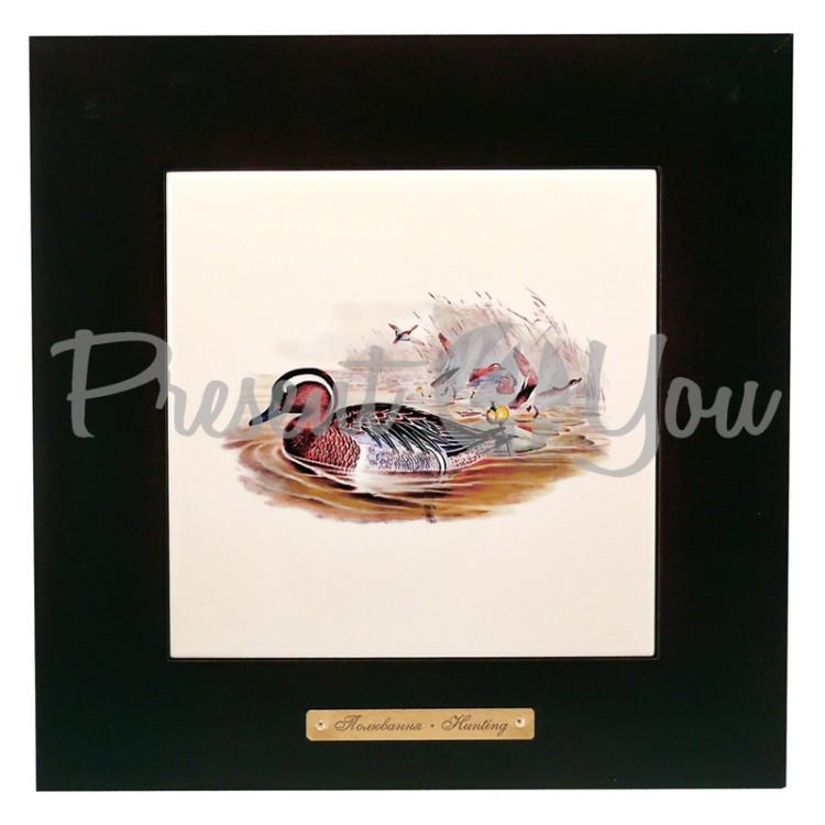 Панно настенное «Охота. Утки», 20х20, 28х28 см (262-5057B)
