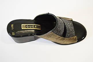 Шлепанцы женские на каблуке  со стразами Guero 1198, фото 3