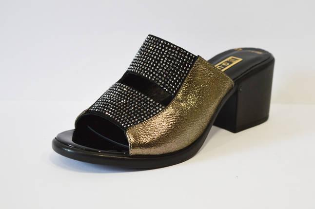 Шлепанцы женские на каблуке  со стразами Guero 1198, фото 2