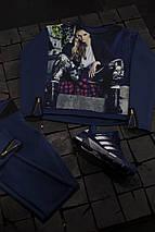 Женский спортивный костюм с принтом девушки, фото 2