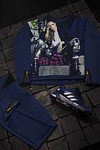 Женский спортивный костюм с принтом девушки, фото 3