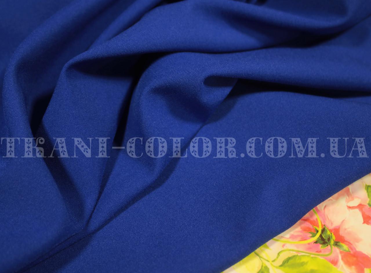 Костюмная ткань мадонна синий электрик