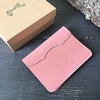 Обложка для паспорта БрадВей из натуральной кожи (282035) - розовая