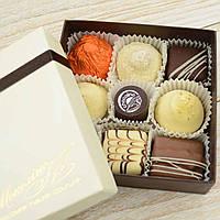 "Набор элитных шоколадных конфет ""Азбука вкуса"". Размер: 126х126х40мм, вес 165г, фото 1"