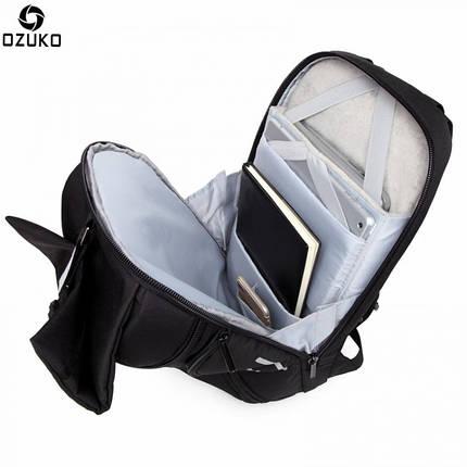 Мужской рюкзак Ozuko черный, фото 2