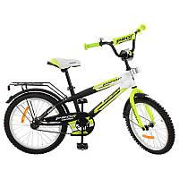 Детский двухколесный велосипед PROFI 20 дюймов салатовый,  G2054 Inspirer