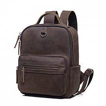 Мужской рюкзак кожаный Texas, ручная работа eps-7001, фото 2