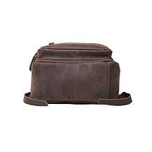 Мужской рюкзак кожаный Texas, ручная работа eps-7001, фото 3