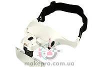 Бинокулярные очки для микроблейдинга (белые)