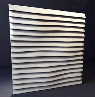"""Гипсовые 3D панели """"Линии""""  500х500 мм. New Walls"""