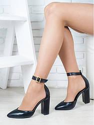 Босоножки-туфли кожаные
