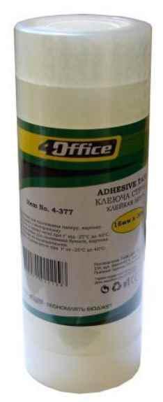 Канцелярська клейка стрічка 4Office, 4-391, 24 мм * 10 м (1/6/360)