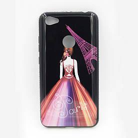 Чехол накладка для Xiaomi Redmi Note 5A PRIME силиконовый со стразами, Magic Girl Париж