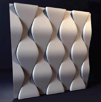 """Гипсовые 3D панели """"Чешуя""""  500х500 мм. New Walls"""
