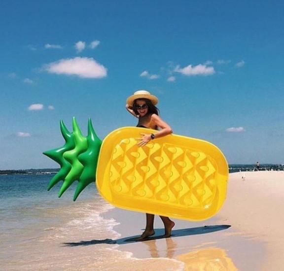 Пляжный надувной матрас Ананас, фото 1