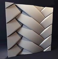 """Гипсовые 3D панели """"Переплет""""  500х500 мм. New Walls"""