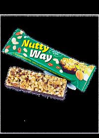 Батончик-мюсли ореховый в глазури 40г NuttyWay