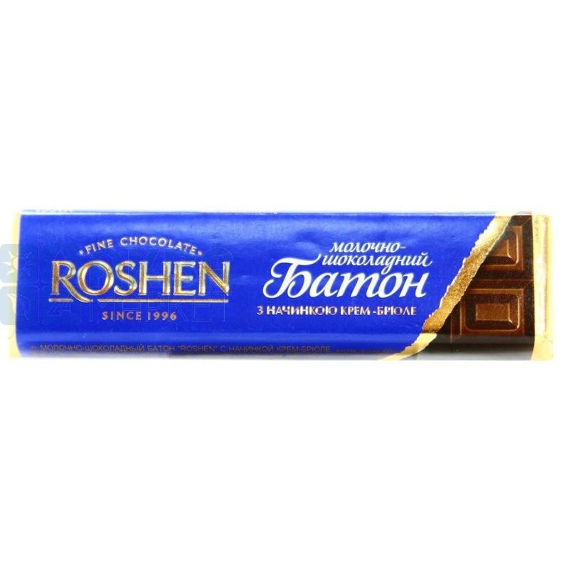 Шоколадный батончик Рошен с начинкой крем-брюле 43г