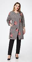 Пальто Дали-3314 белорусский трикотаж, серые тона, 48
