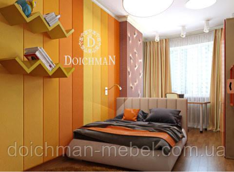 Мягкая стеновая панель из ткани в детскую комнату