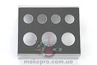 Металлическая подставка для емкостей под пигменты 71мм*58мм*39мм (серебряная)