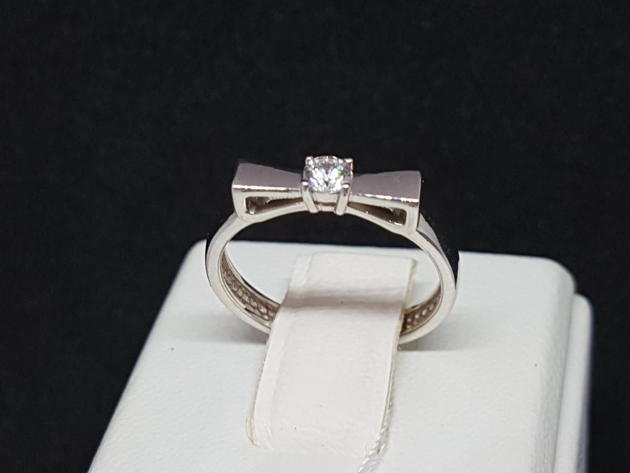 Серебряное кольцо с фианитом. Артикул 15081р 15
