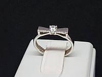 Серебряное кольцо с фианитом. Артикул 15081р 15, фото 1