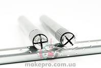 Манипула для микроблейдинга односторонняя для плоских игл (серебряная с узором)