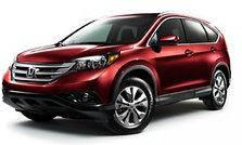 Дефлектор капота (мухобойка, отбойник капота) Honda CR-V 2013-2017