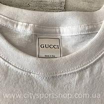 Футболка Gucci женская белая, фото 3