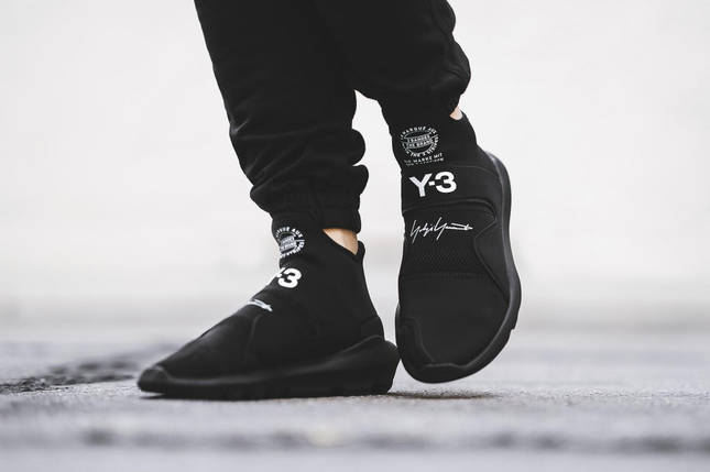 Кроссовки мужские  Adidas YAMAMOTO Y-3 SUBEROU All Black, фото 2