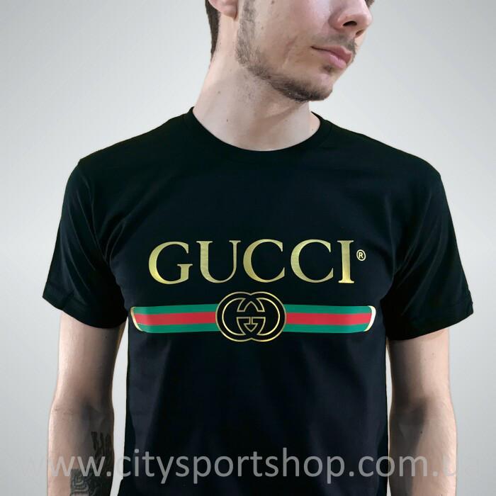 Футболка Gucci мужская чёрная - Хайповый магаз. Supreme Thrasher ASSC  Palace Юность Спутник 1985 в 366df0ad9d2