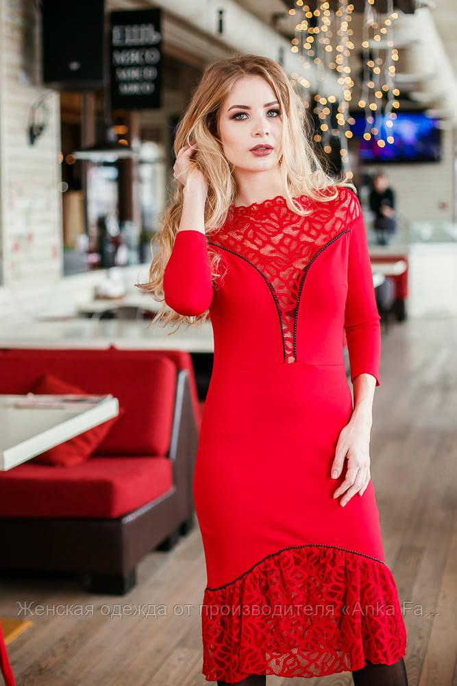 Женское вечернее платье с кружевом