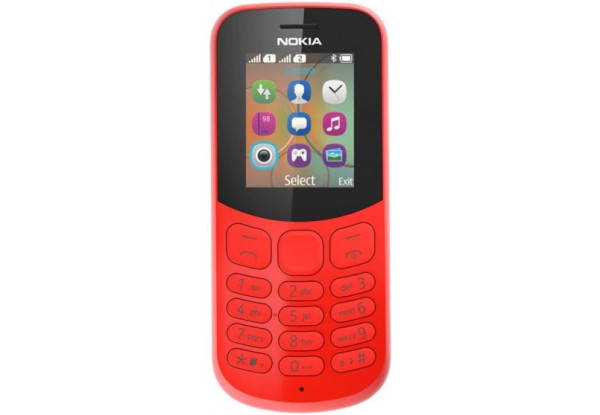 Nokia 130 New Dual Sim Red