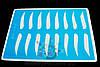 Тренировочный коврик голубой (горизонтальные брови)
