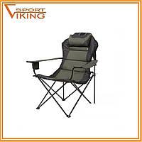 """Складной стул-кресло """"Мастер Карп"""" зеленый меланж"""