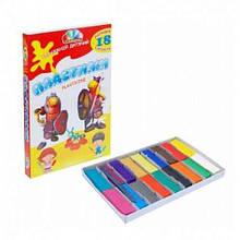 Пластилін Захоплення Гамма 331049, 18 кольорів, 360 г