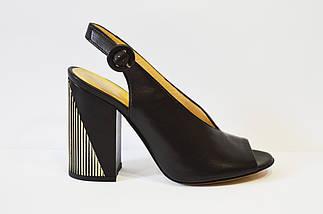 Босоножки кожаные на каблуке Lottini, фото 3