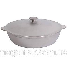 """Сковорода, жаровня алюминиевая литая """"БИОЛ"""" А323 (алюминиевая посуда, сотейник)"""