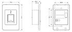 Влагозащищенный считыватель отпечатков пальцев ZKTeco FR1500E-WP BioID, фото 7