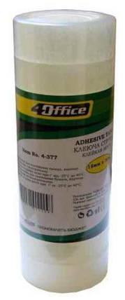 Канцелярська клейка стрічка 4Office, 4-375, 18 мм * 10 м, фото 2