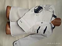 Рубашка белая со вставками от 10 до 13 лет
