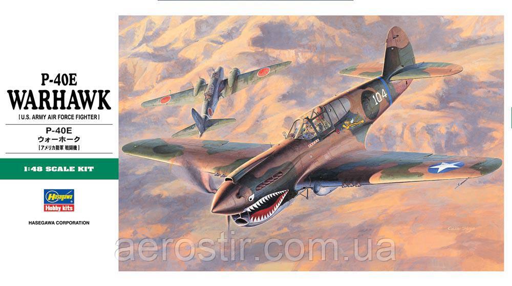 P-40E WARHAWK 1/48  Hasegawa JT86