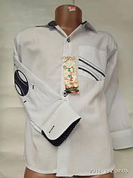Рубашка белая со вставками от 11 до 15 лет