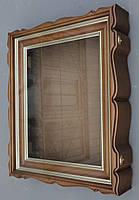 Киоты для икон фигурные, с внутренними деревянными рамами и штапиками, покрытыми золотой патиной., фото 3