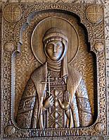 Икона резная Святая Ольга, фото 1