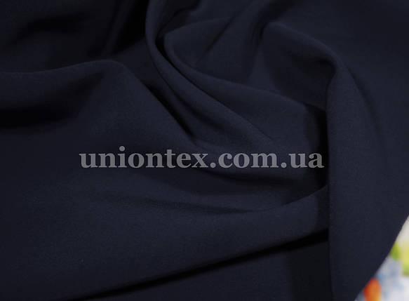 Креп костюмка Барби темно-синяя, фото 2